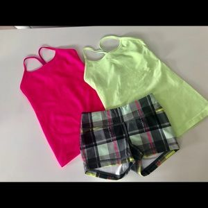 Ivivva Tanks and Shorts
